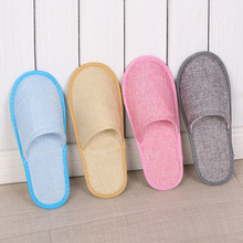 Unisex Home Guest Indoor Slippers Summer Linen Slippers Hotel Disposable Supplies Slippers Travel Spa Portable Simple Slippers стоимость