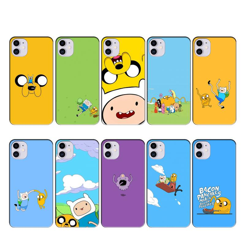 Adventure Time with Finn and Jake case coque fundas for iphone 11 PRO MAX X XS XR 4S 5S 6S 7 8 PLUS SE 2020 cases cover