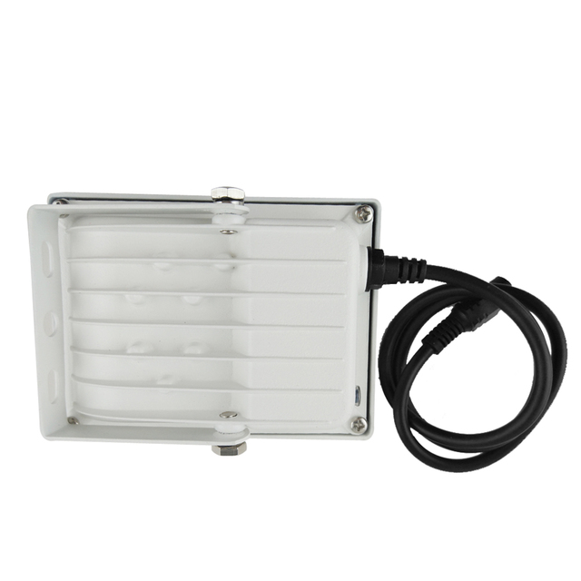 Luz de relleno CCTV con 6 matrices LED Lámpara Metal exterior impermeable visión nocturna 90 grados para cámara de seguridad CCTV