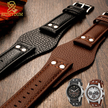 genuine leather watchband 22mm strap With mat for f-ossil CH2891 CH3051 CH2564 CH2565 watch band handmade mens leather bracelet