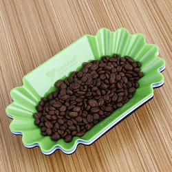 Coffee Cupping Tray Oval Tray for Green Roasted - White