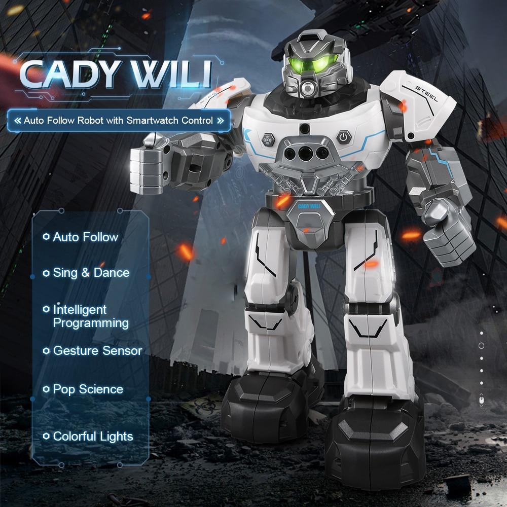 JJR/C JJRC R5 CADY WILI SmartWatch Intelligent Programing Education RC Robot Auto Follow Gesture Control Kids Toys Blue White
