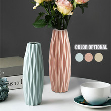 Flower-Vase Ceramic Home-Decoration Plastic Nordic-Style White Modern