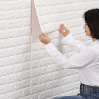 Papel tapiz de Espuma adhesiva automático para el hogar, pegatinas de pared estéreo 3d cálidas, impermeables y a prueba de humedad, Fondo de TV