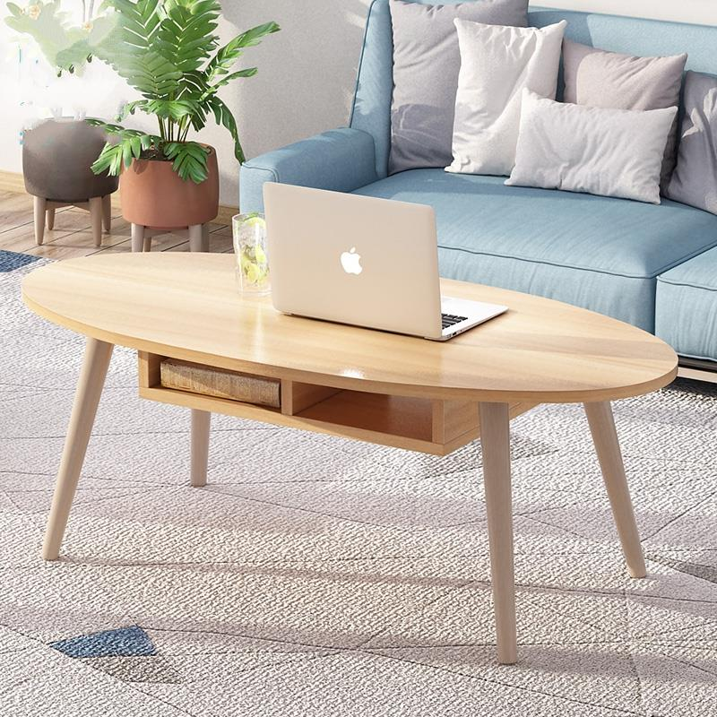 Ins Wind Wood Simple Nordic Coffee Table Small Apartment Short Table Creative Coffee Table Living Room Modern Side