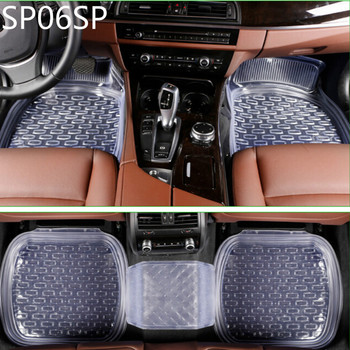 SP06SP universal 64*47cm non-slip car floor mats car mats car floor mat Transparent black 5pcs/set free shipping