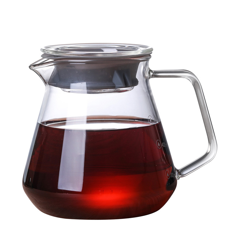 SHXING Hario Style Coffee Glass and Pot Set Japness  V60   Filter Reusable  Filters  300ml/600ml