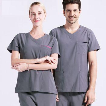 New Women Medical Uniforms Doctor Spring/Summer Short Sleeved Scrub Sets Nurse Uniform Beauty Salon Work Clothes Breathable