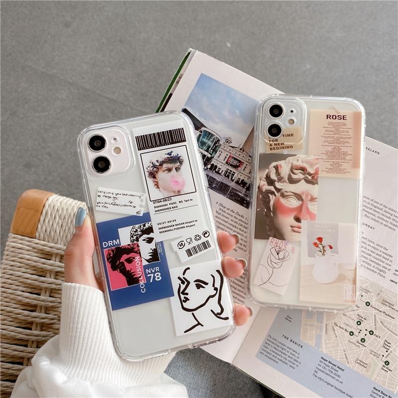 Fashion Cute David Art Phone Case For Xiaomi Mi 11 Note 10 9t 9 Lite POCO X3 Cover For Redmi Note 7 8 9 10 Pro 9s 8t Soft Cases