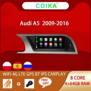 """Image 1 - 8.8"""" Octa Core Car IPS Touch Screen Radio For Audi A5 2009 2016 WIFI SWC BT Music Android 10 System 4G Carplay 4+64G Multimedia"""