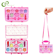 Kids Make Up Toy Set Pretend Play Princess Makeup Beauty Safety Non-toxic Kit Toys for Girls Dressing Cosmetic Girl Gifts GYH
