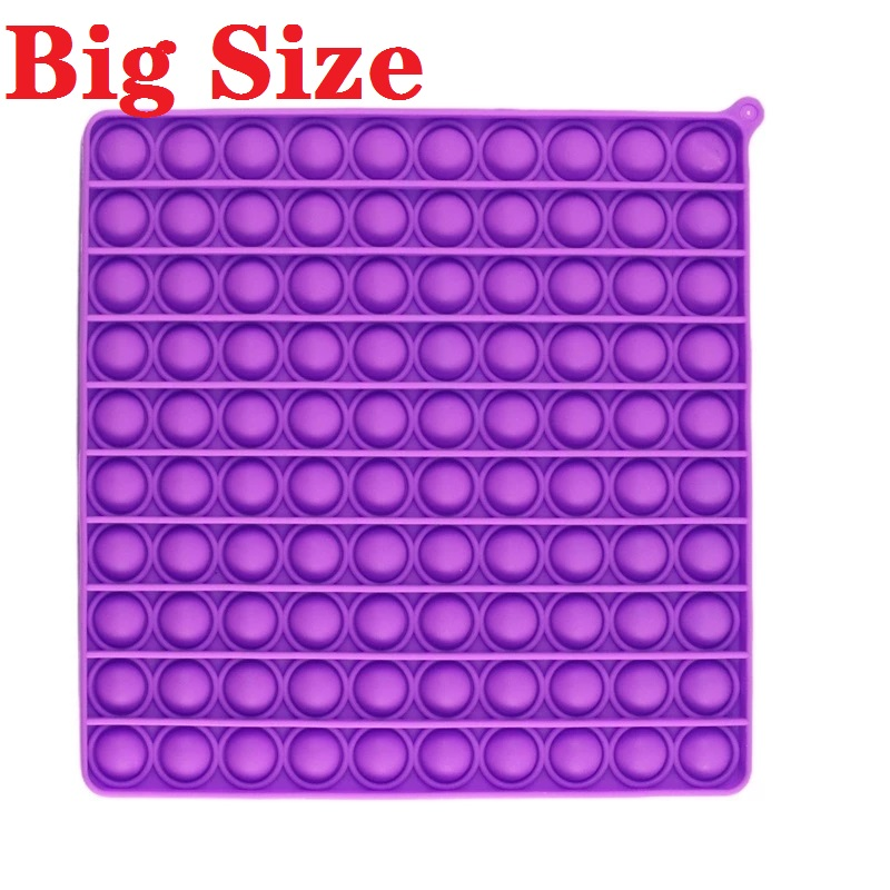 Sensory Toy Fidget-Toys Bubble Squeeze Square Silicone Stress Reliever Dropship Big-Size