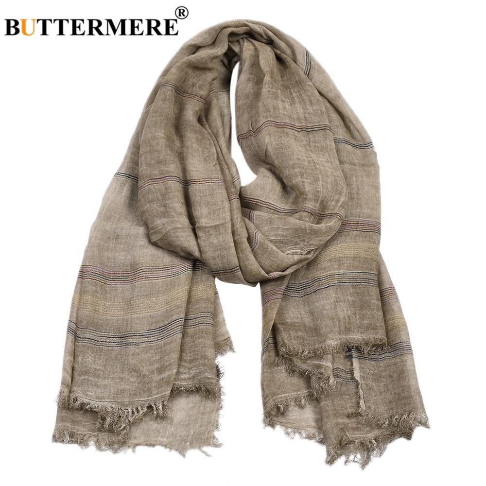 Lenço de linho de algodão de algodão de inverno de outono de buttermere masculino caqui preto marinho rosa cáqui quente longo marca de moda dos homens scarfs