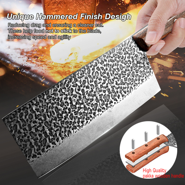 Hand-Made Stainless Steel Chopping Cleaver 5