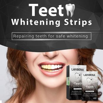 LANBENA Tooth Whitening Tapes Oral Hygiene Tooth Veneers White Stripes Removes Dental Plaque Spots Tooth Whitening Dental Tools фото
