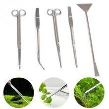 3 шт./5 шт. инструменты для обслуживания аквариума пинцеты ножницы для свежего живого растения для аквариума товары для домашних животных инструменты для технического обслуживания