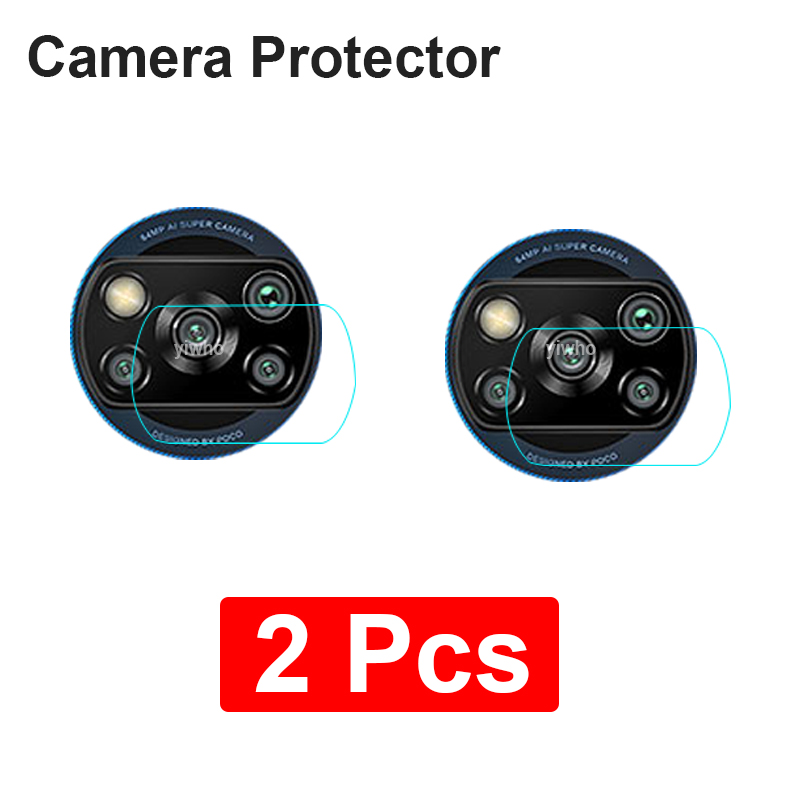2Pcs Camera Len Glass For Xiaomi Poco X3 Redmi Note 9 Pro Max 9S 8 8T Back Protector Film On Xiomi Redmi 8A 9A 9C Tempered Glass(China)