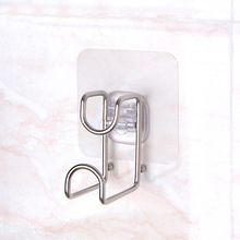 4PCS hook strong transparent suction cup kitchen bathroom rack waterproof adhesive stainless steel