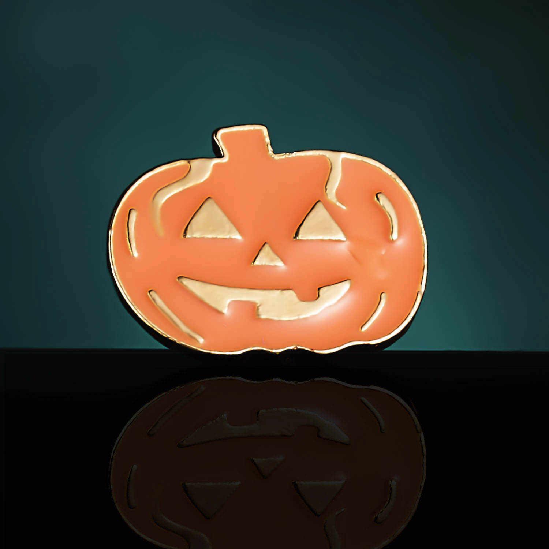 Rinhoo Kartun Halloween Hadiah Lucu Hantu Bros Labu Halloween Skeleton Enamel Lencana Bros Pin Halloween Perhiasan Pesta Hadiah