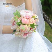 Topqueen Свадебный фотобукет Искусственные цветы розовый букет