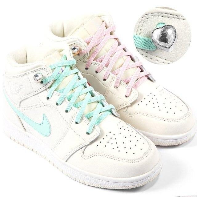 100 шт эластичные шнурки для обуви с металлической пряжкой