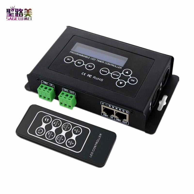 BC 100 DC9V Regolatore del LED RGB DMX512 segnale 170 Pixel ha condotto la Luce Display LCD del Controller RF A Distanza Senza Fili per la striscia del led luce