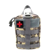 Tactical Medical Wild Survival Emergency Kit Outdoor Camping Travel First Aid Bag Survival Pouch Survival Kits for Hiking Riding brand new outdoor edc molle tactical pouch bag emergency first aid kit bag travel camping hiking climbing medical kits bags