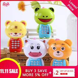 Электронный игрушечный телефон музыкальный Мини Симпатичный детский телефон игрушка раннее образование мобильный телефон с мультяшками