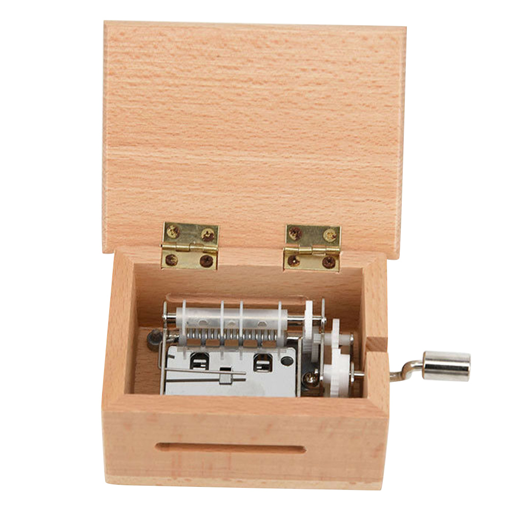 2020 DIY Hand-cranked Music Box Wooden Box With Hole Puncher And Paper Tapes