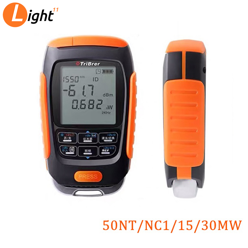 4 In 1 Mini Multifunction Optical Power Meter Save Data Visual Fault Locator Network Cable Test VFL Optical Fiber Tester 15/km
