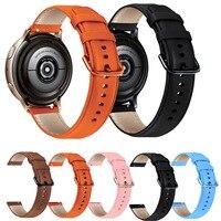 Leder Armband Für Samsung Galaxy Uhr Aktive 2 Strap 20mm für Galaxy uhr 3 41mm Getriebe S2 Weichen sport Ersatz Armband