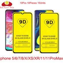 10 шт/лот 9d защита для экрана из закаленного стекла iphone