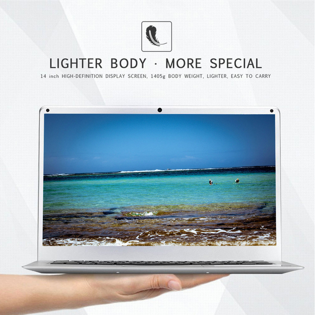 14.1 inch Laptop Intel Celeron J3355 6GB RAM 64GB SSD Computer Windows 10 Untra Thin Laptops All Metal for Student NoteBook 5