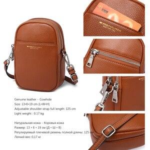 Image 3 - NEVEROUT из натуральной кожи сумка для мобильного телефона через плечо для Для женщин Дамская хозяйственная сумка через плечо деньги сумка с длинным ремнем