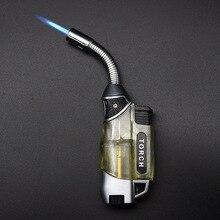 BBQ Multipurpose Hose Jet Torch Lighter Gasoline 1300 C Kitchen Turbo Gas Stove Ignition Cigar Pipe Cigarette Windproof