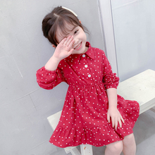 Autumn Infant Baby Kids Girls Long Sleeve Cotton Dress Vario