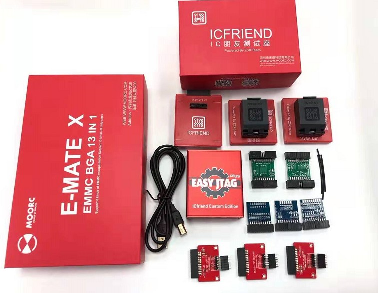 2019 New version Easy Jtag plus box +EASY JTAG /UFI/MEDUSA ISP Adapters +UFS 3 IN 1 SOCKET +E-MATE X EMMC BGA 13 IN 1 SOCKET(China)