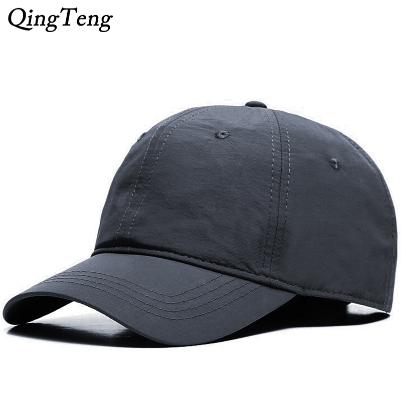 Plus Sized Quick-Drying Summer Baseball Cap Cap Men Solid Breathable Dad Hat Women Outdoor Snapback Hats Casual Sun Casquette