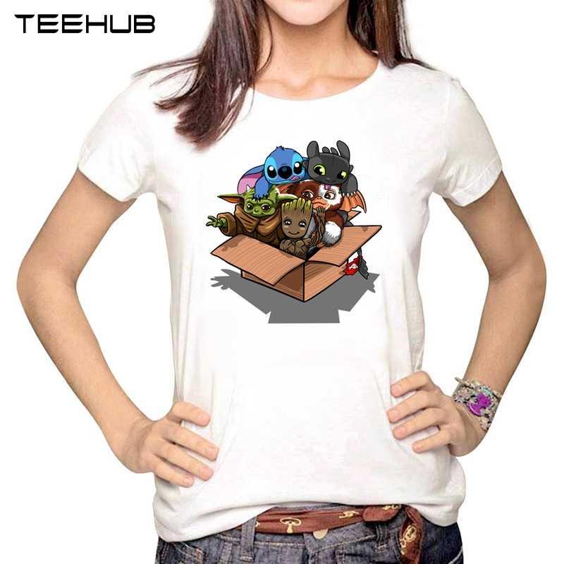 2020 kobiet nowy STAR WARS moda pełna zespół kawaii Yoda drukowane z krótkim rękawem T-shirt damskie t-shirty z nadrukiem nowość Tees