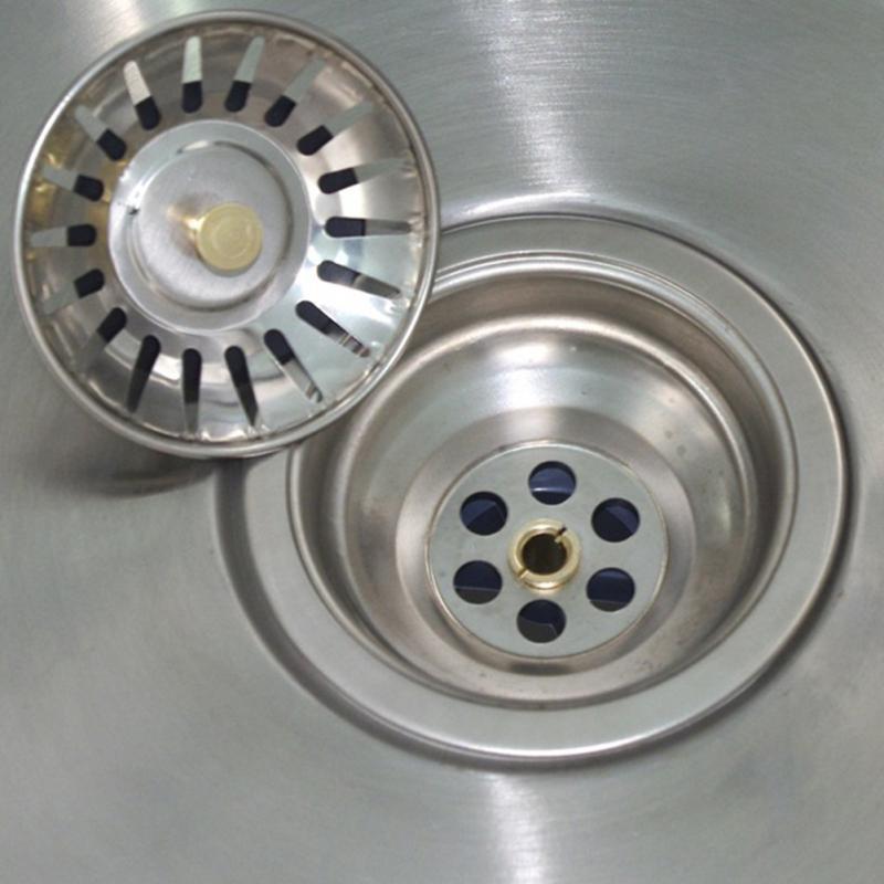 Stainless Steel Kitchen Sink Strainer Stopper Waste Plug Sink Filter Trap Metal Sink Strainer Bath Sink Drain Hair Catcher