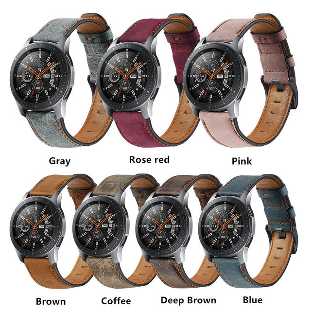 22mm watch strap For Huawei watch gt 2/2e strap samsung Galaxy watch 3 45/46mm leather correa Amazfit PACE GTR /Gear S3 frontier 6