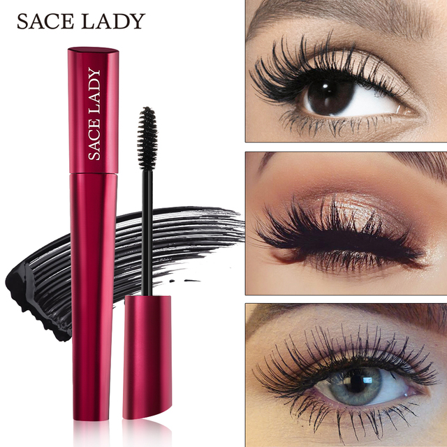SACE LADY 4D Lash Mascara Waterproof Makeup Rimel Mascara Eyelash Extension Black Thick Lengthen Eye Lashes Cosmetics Wholesale