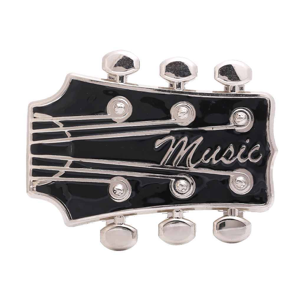 Guitar Headstock Belt Buckle Western Buckle Cowboy Mens Costume Accessory