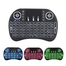 I8 Keyboard Backlit Russian Spanish Air Mouse 2.4GHz Wireless Keyboard Touchpad Handheld For TV BOX Android X96 vontar i8 keyboard backlit english russian spanish air mouse 2 4ghz wireless keyboard touchpad handheld for tv box android x96