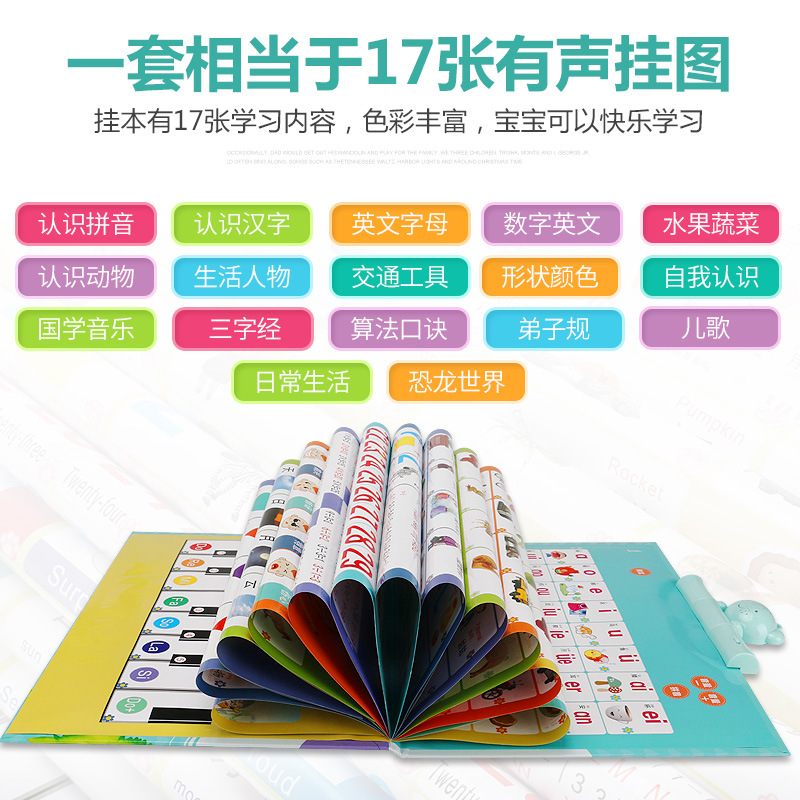 Maobeile New Style 31 Surface Voiced Hanging This Early Education Pinyin Children With Pictures Reading Chinese Translation Poin