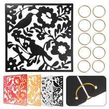 12 pièces pour la maison mode papillon oiseau fleur suspendus écran cloison diviseur panneau chambre rideau maison 4 couleurs