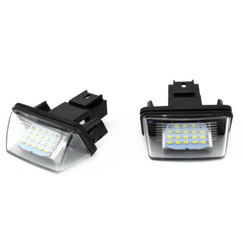 2pcs LED License Number Plate Lights Lamp For Peugeot 206/207/307/308 Citroen C3-C6 High Quality Car License Plate Lights