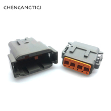 цена на 1 set Deutsch DTM 12 Pin/way Enhanced Seal Auto Waterproof Male Female Electrical Connector Plug DTM06-12S DTM04-12P 20-24AWG