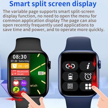CHYCET Original IWO Smart Watch Men Series6 Wireless Charging 1.75 Inch Smartwatch Women Dial Call DIY Faces PK W66 HW22 T500 5