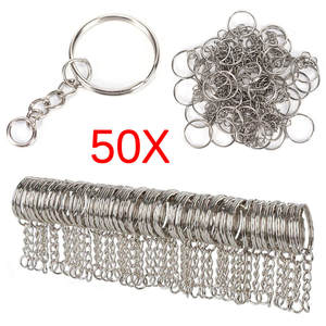 Blank Keyring Keychain Keyfob Key-Holder Silver-Plated Women Metal DIY